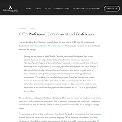 ✓ On Professional Development and Conferences — Jethro Jones