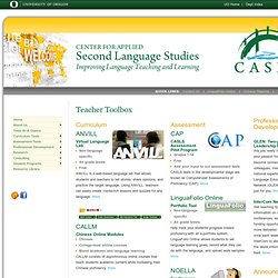 CASLS: Foreign Language Lesson Plans, Tests, and Professional Development