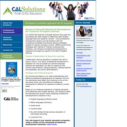 Solutions: Professional Development