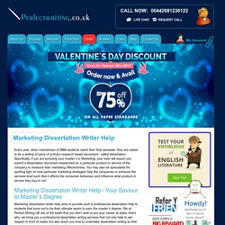 Buy Professional Marketing Dissertation Writer Help & Services