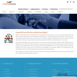 Professional CV Writing and Distribution Services for Dubai - CareerZooom