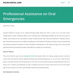 Professional Assistance on Oral Emergencies