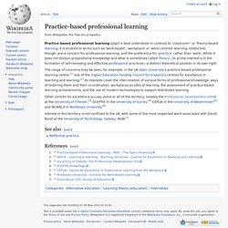 Practice-based professional learning