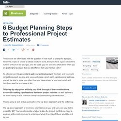 6 Budget Planning Steps to Professional Project Estimates