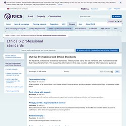 Professional and Ethical Standards