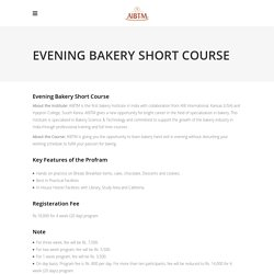 Professional Evening Baking Short Courses