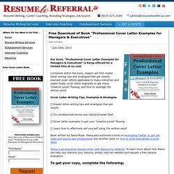 """Free Book Download: """"Professional Cover Letter Examples for Managers & Executives"""""""