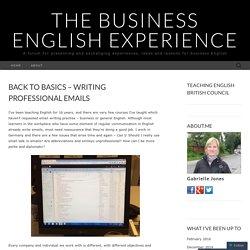 Back to basics – writing professional emails