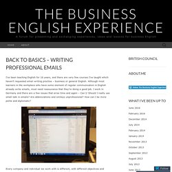 Back to basics – writing professional emails