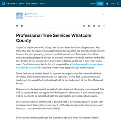 Professional Tree Services Whatcom County
