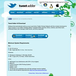 download | Twitter Adder - Professional Twitter Marketing Tools - Automatic Twitter Software - Automate Twitter Posts, Auto Twitter Follow, Automate Unfollow, Mass Tweets, Twitter Search, more ..