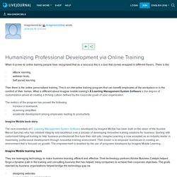 Humanizing Professional Development via Online Training: imaginemobile