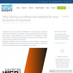 Why having a professional website for business is important