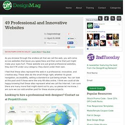 49 Professional and Innovative Websites