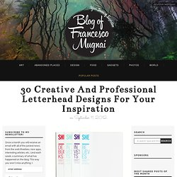 30 creative and professional letterhead designs for your inspiration