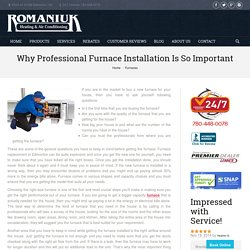 Importance Of Furnace Installation Expert