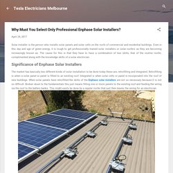 Why Must You Select Only Professional Enphase Solar Installers?