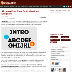 Latest High-Quality Free Fonts for Professional Designers | Fonts