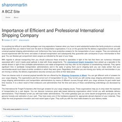 Importance of Efficient and Professional International Shipping Company