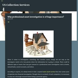 Why professional asset investigation is of huge importance?