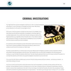 Professional Organization For Criminal Investigators