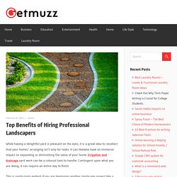 Top Benefits of Hiring Professional Landscapers