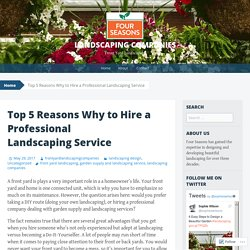 Top 5 Reasons Why to Hire a Professional Landscaping Service