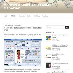A Modern Professional Learner's Toolkit for 2018