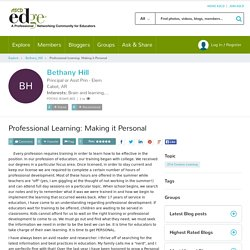 Professional Learning: Making it Personal
