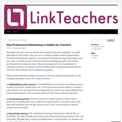 How Professional Networking is Helpful for Teachers