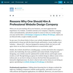 Reasons Why One Should Hire A Professional Website Design Company