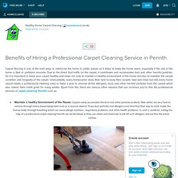 Benefits of Hiring a Professional Carpet Cleaning Service in Penrith