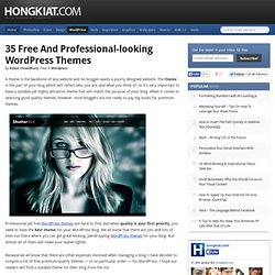 35 Free and Professional-looking WordPress Themes