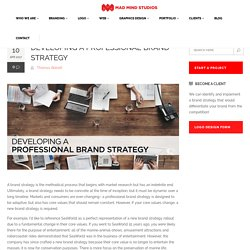 Developing a Professional Brand Strategy - Madmindstudios