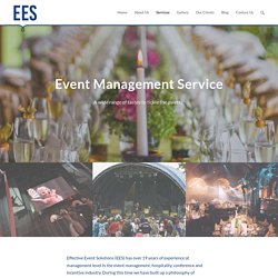 For professional corporate event management services, check out Effective Event Solutions