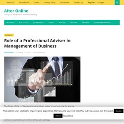 Role of a Professional Adviser in Management of Business