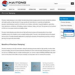 Professional Precision Stamping Manufacturer in China - HaiTong