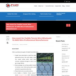 Paddle Tennis Wire Wholesale 16 AWG Wire Professional Manufacturer - FHM