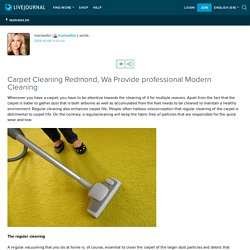 Carpet Cleaning Redmond, Wa Provide professional Modern Cleaning : mariawilsn