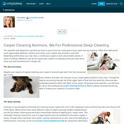 Carpet Cleaning Kenmore, Wa For Professional Deep Cleaning