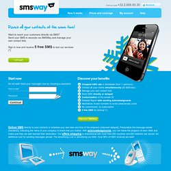 Send bulk SMS, professional SMS marketing, SMS Gateway - SMSWay Worldwide