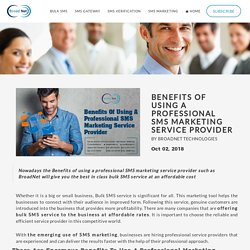 Benefits Of Using A Professional SMS Marketing Service Provider