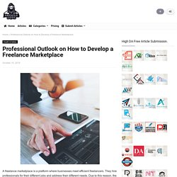 Professional Outlook on How to Develop a Freelance Marketplace