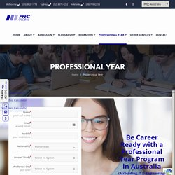 Looking for a Professional Year Program? Contact us