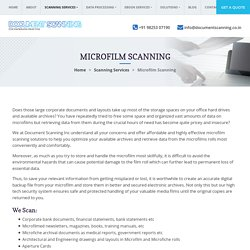 Professional Microfilm Scanning Services, Solution to Scan Microfilm