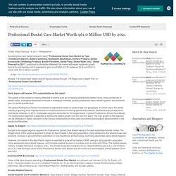 Professional Dental Care Market Worth 961.0 Million USD by 2021 /PR Newswire India/