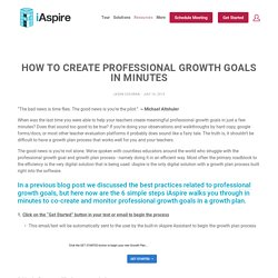 How to Create Professional Growth Goals in Minutes — iAspire Education