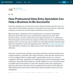 How Professional Data Entry Specialists Can Help a Business to Be Successful: mosdataentry