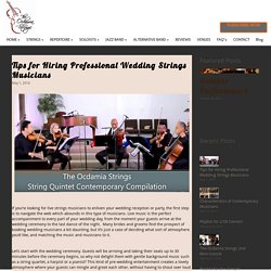 Tips for Hiring Professional Wedding Strings Musicians