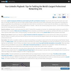 Your LinkedIn Playbook: Tips for Tackling the World's Largest Professional Networking Site
